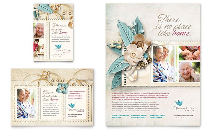 Hospice and Home Care Flyer and Ad Template Design by StockLayouts - healthcare brochure