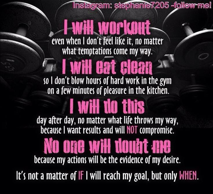 I will work out