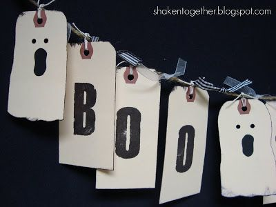 happy fall  boo-to-you shabby tag banners HALLOWEEN Pinterest - halloween decorations for the office