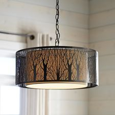 ~$200 Pier One  Etched Birches Pendant Light