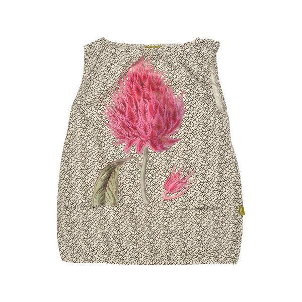 Clothing | VIVAIODAYS Nui NOEMI DRESS WHITE TEXT FLOWER $29.00