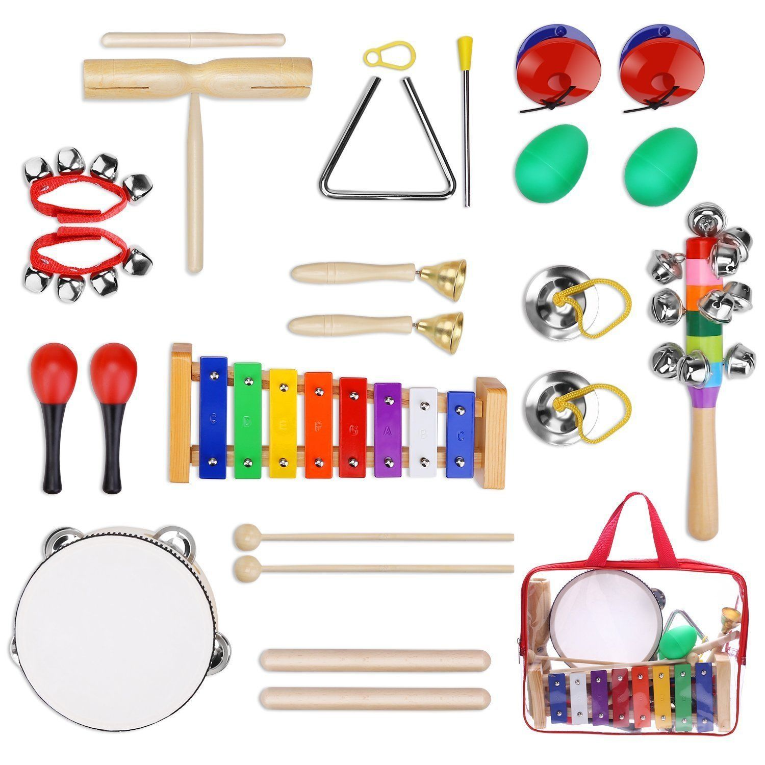 Educational Toys Toddlers Kids Boy Girl 12Pcs Kids Musical