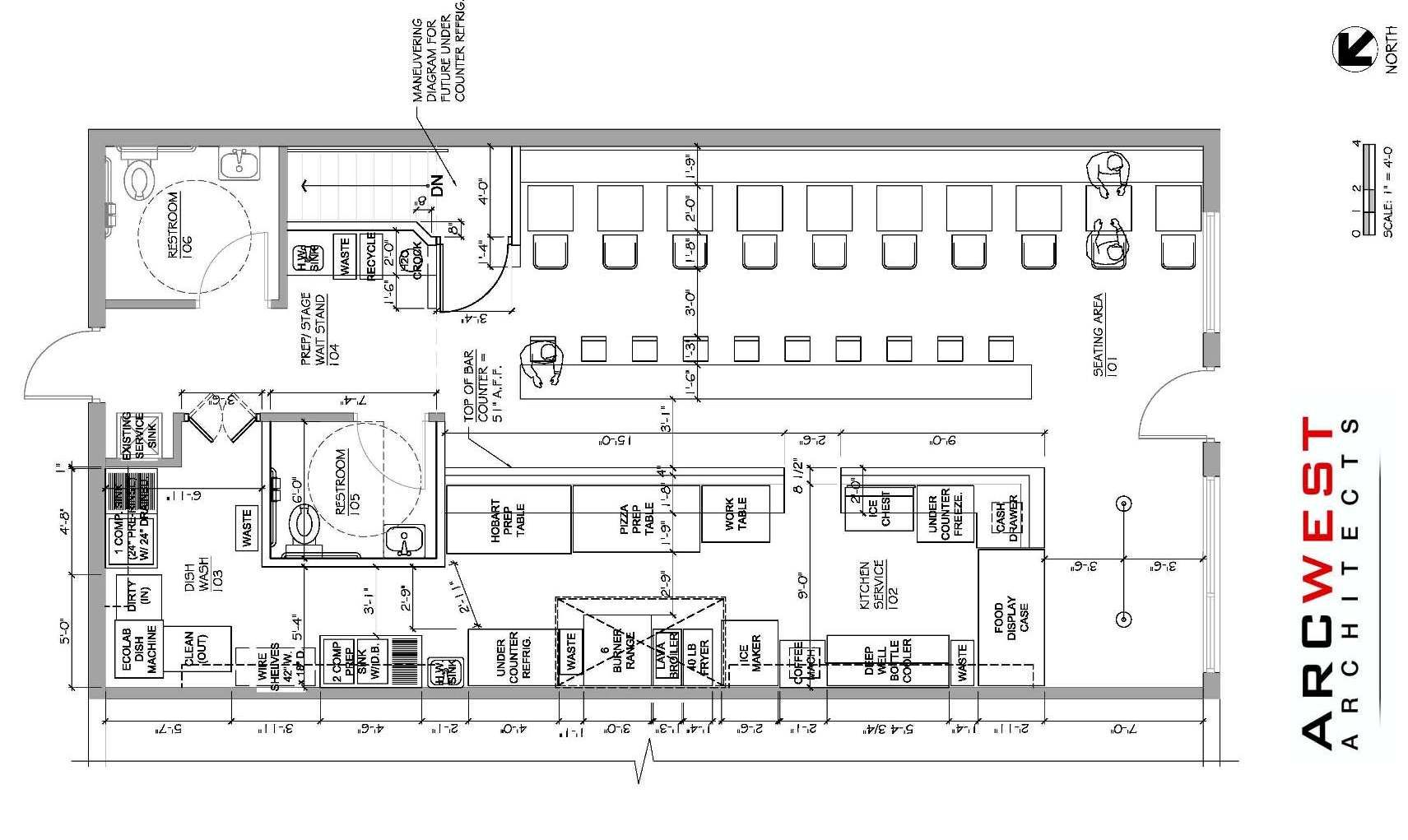 restaurant floor plan with retail space  Google Search
