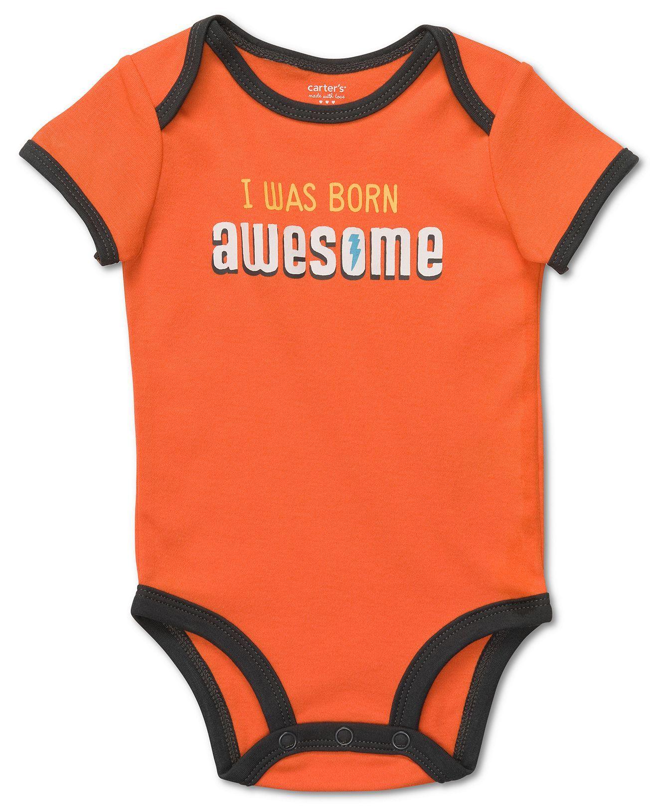 Carter s Baby Bodysuit Baby Boys I Was Born Awesome Bodysuit Kids