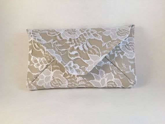 White Clutch Bridal White Clutch Lace White by LoveDoingLife