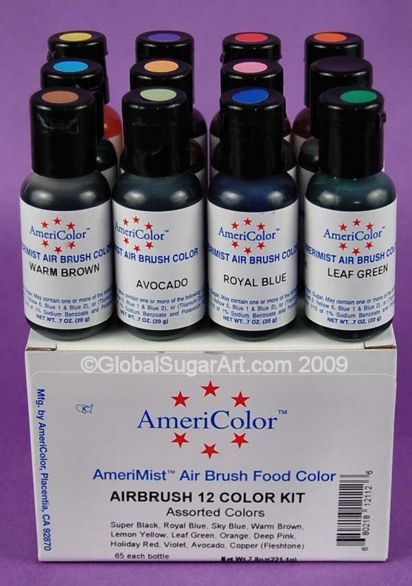 Air Brush 12 Color Kit by Americolor | Wish List | Pinterest