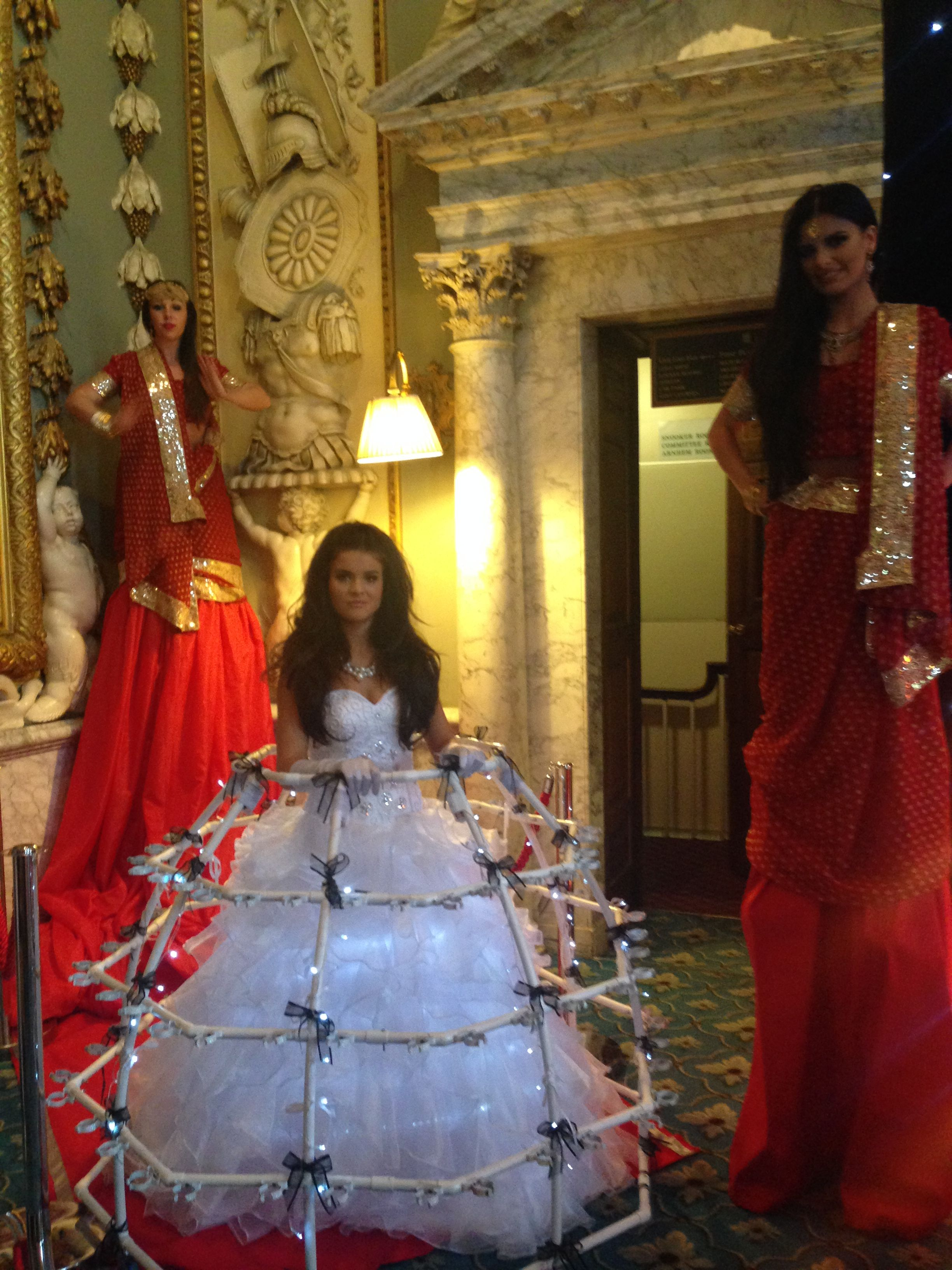 Sari Stilt Walkers The Champagne Dress Asianweddings