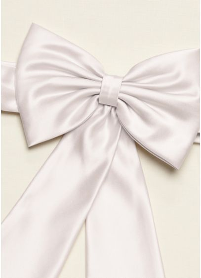 e4838c815e8 Satin Flower Girl Sash with Back Bow - Wedding Accessories