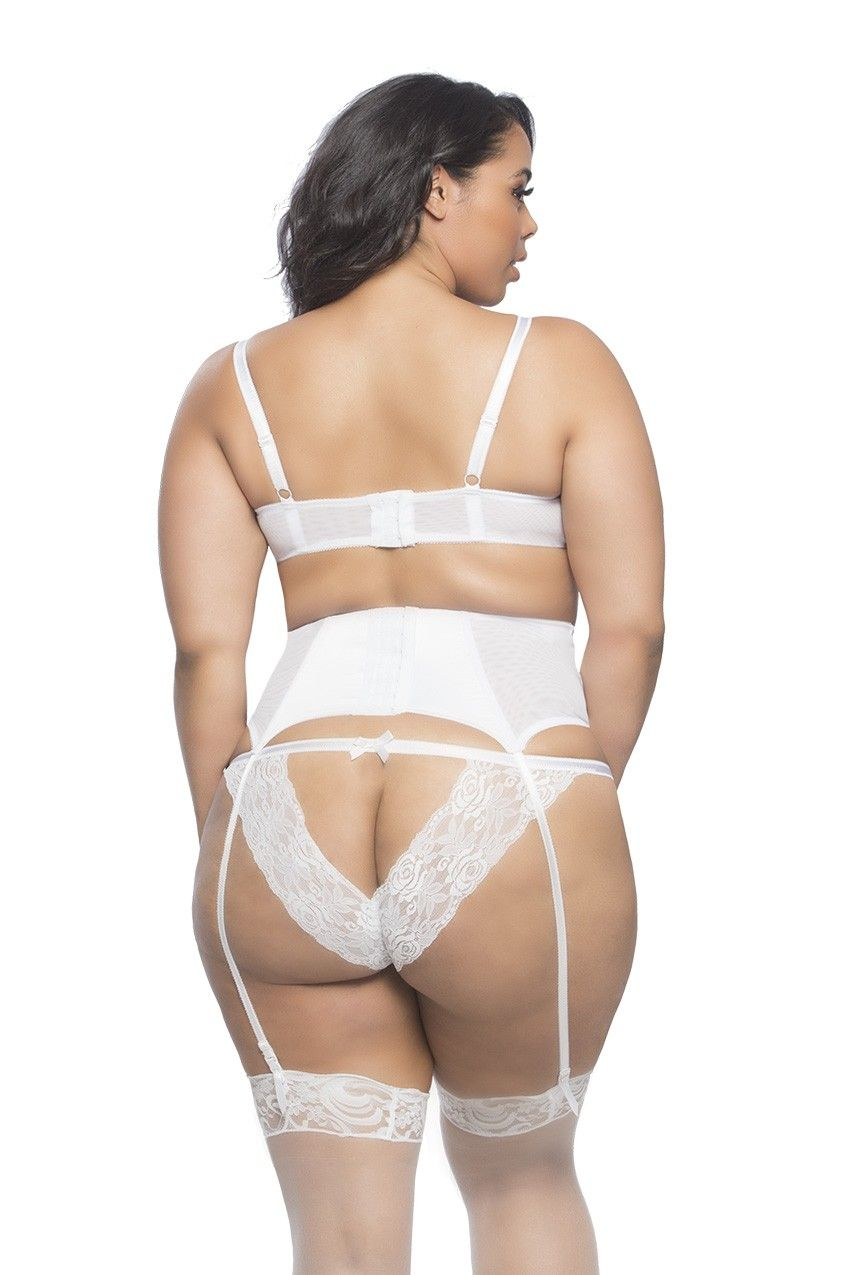931e97048a63b SHELF BRA WITH LACE AND OPEN BACK TANGA WITH SATIN GARTERBELT - FW 2017-18  - Curves - Collections - Shop