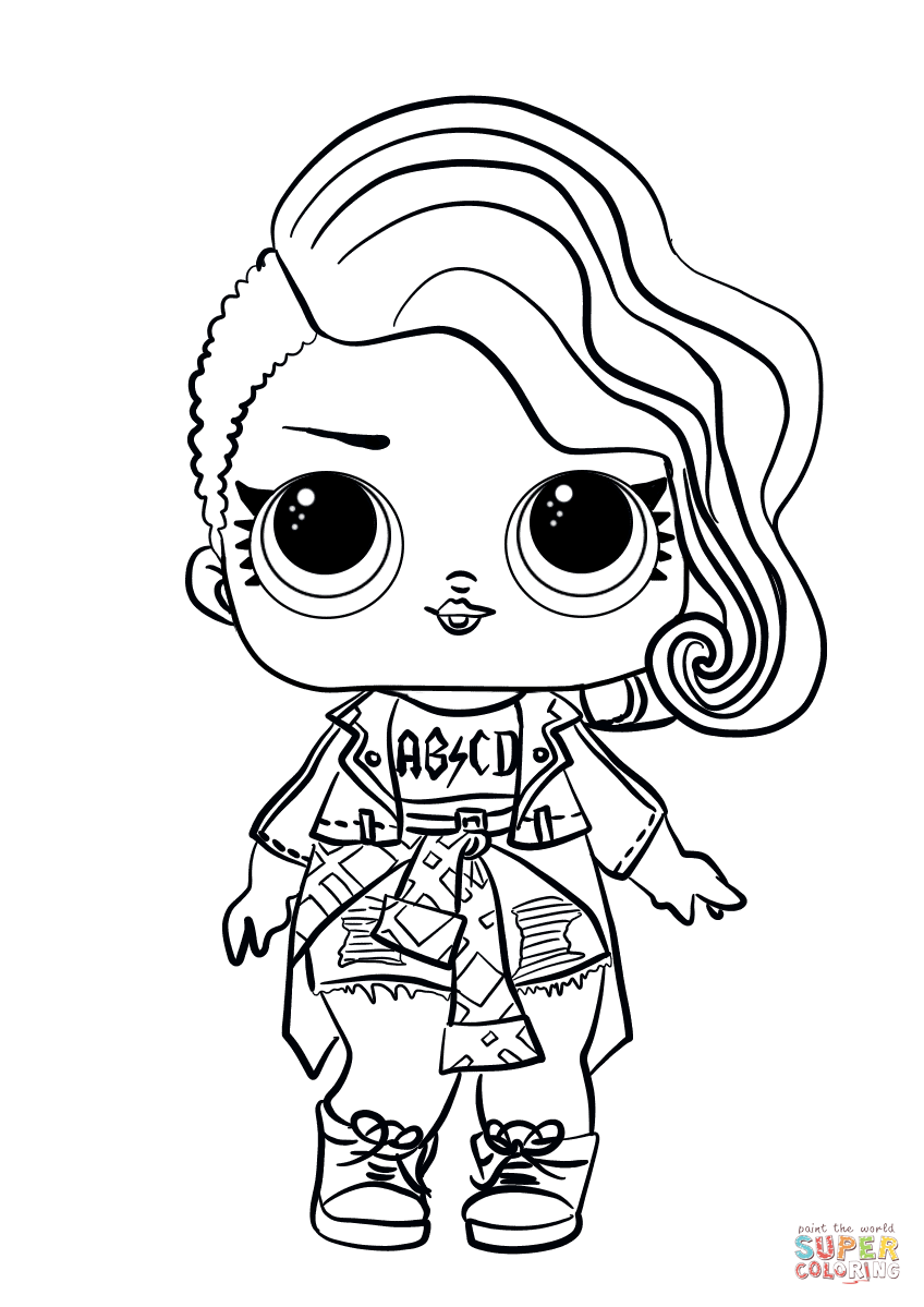 Lol Surprise Doll Rocker Super Coloring Unicorn Coloring Pages