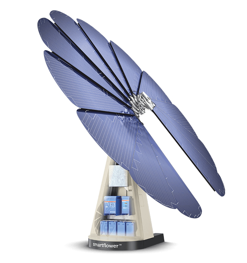 Power your home with clean solar power from smartflower