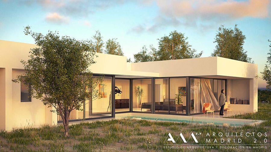 Casas modernas de una planta buscar con google for Fotos de casas modernas de una planta