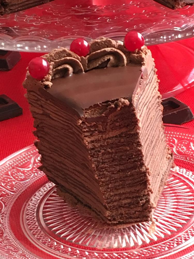 Tarta De Crepes De Chocolate Crepes De Chocolate Panqueques De Chocolate Recetas De Postres Reposteria