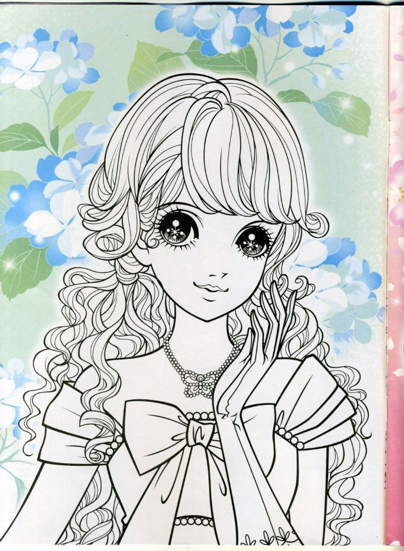 Japanese Animie Girl Comic Beautiful Princess coloring