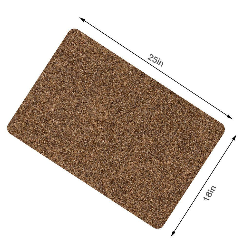 Door Mat For Indoor Outdoor Super Absorbs Mud Doormat For Small Front Door Outside Floor Dirt Trapper Mats Polyester Fiber Door Mat Outside Flooring Absorbent