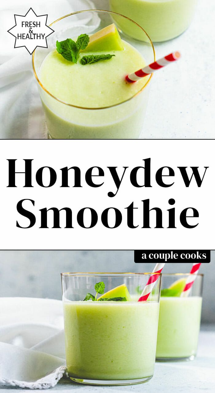 Best Honeydew Smoothie – A Couple Cooks