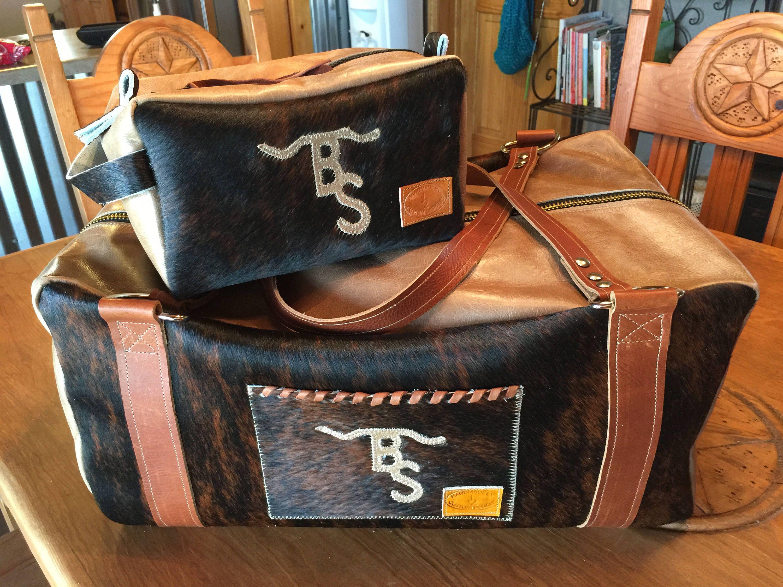 Custom Duffel and Makeup or Shaving Bag Set Bags