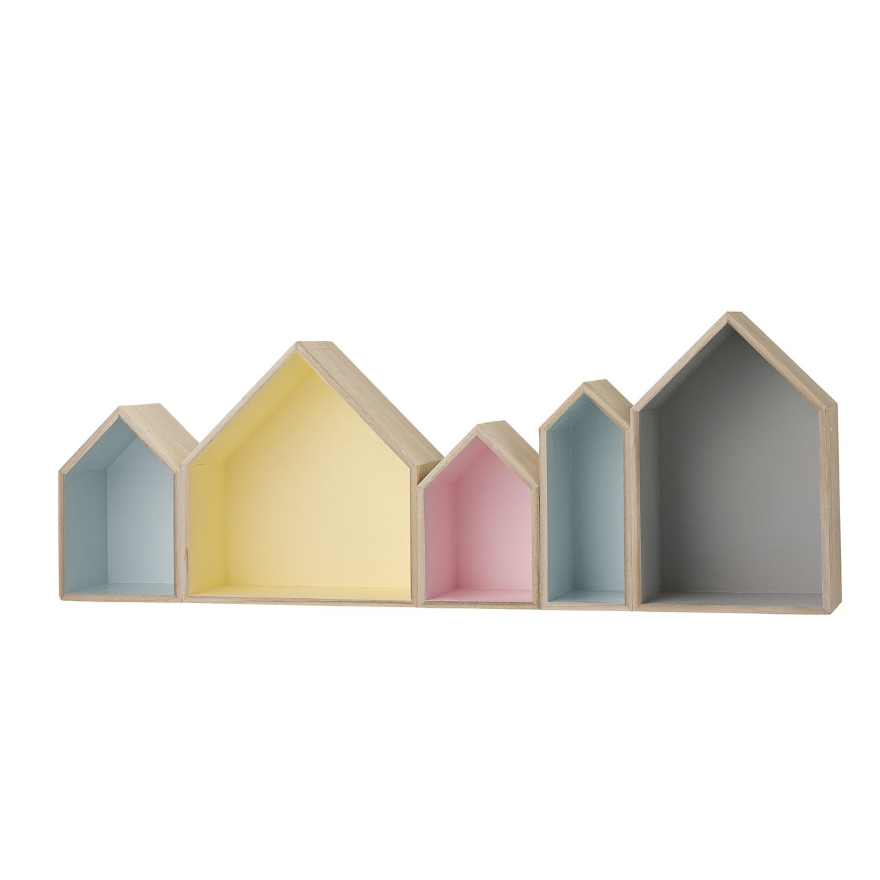 Room and Bloom - Wooden Houses Wall Display - Pastel Shadow Boxes ...