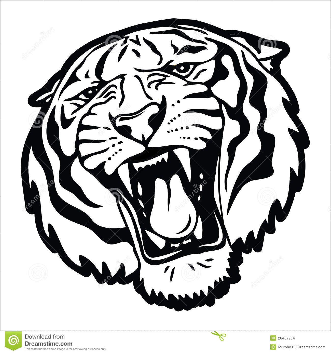 Tiger Head Silhouette Tigrinaya Morda Tigr Siluet