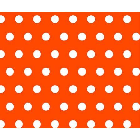 SheetWorld Fitted Fitted Oval Crib Sheet (Stokke Sleepi) - Polka Dots Orange