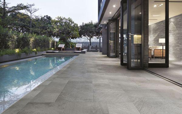 Carrelage sol ext rieur l gant imitation pierre vanoise for Joint pierre exterieur terrasse