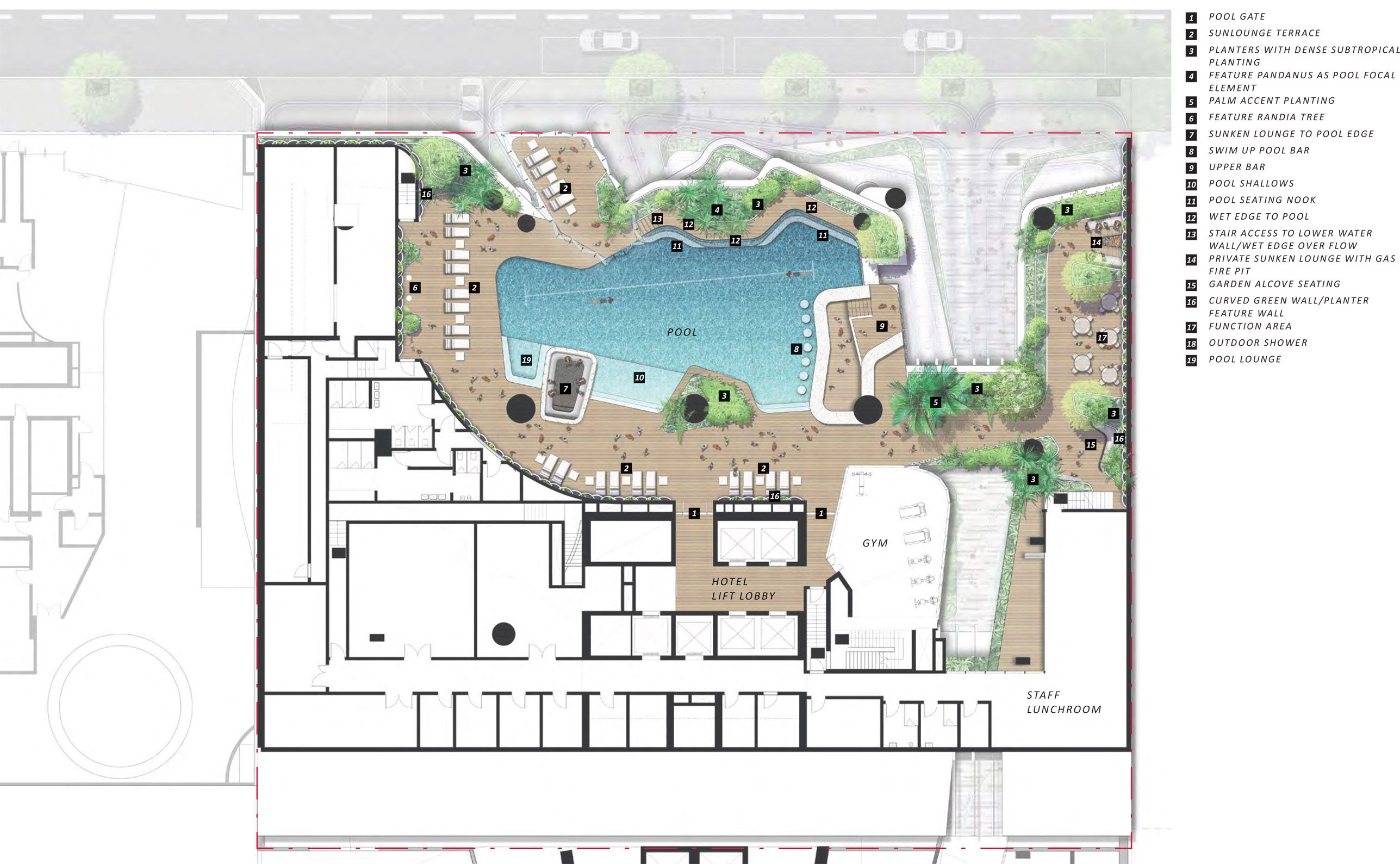 New Hotel And Apartment Tower For 111 Mary Street Hotel Plan Hotel Swimming Pool Hotel Floor