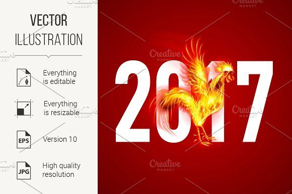 Fire Rooster @creativework247 Graphics - Icons - Illustrations