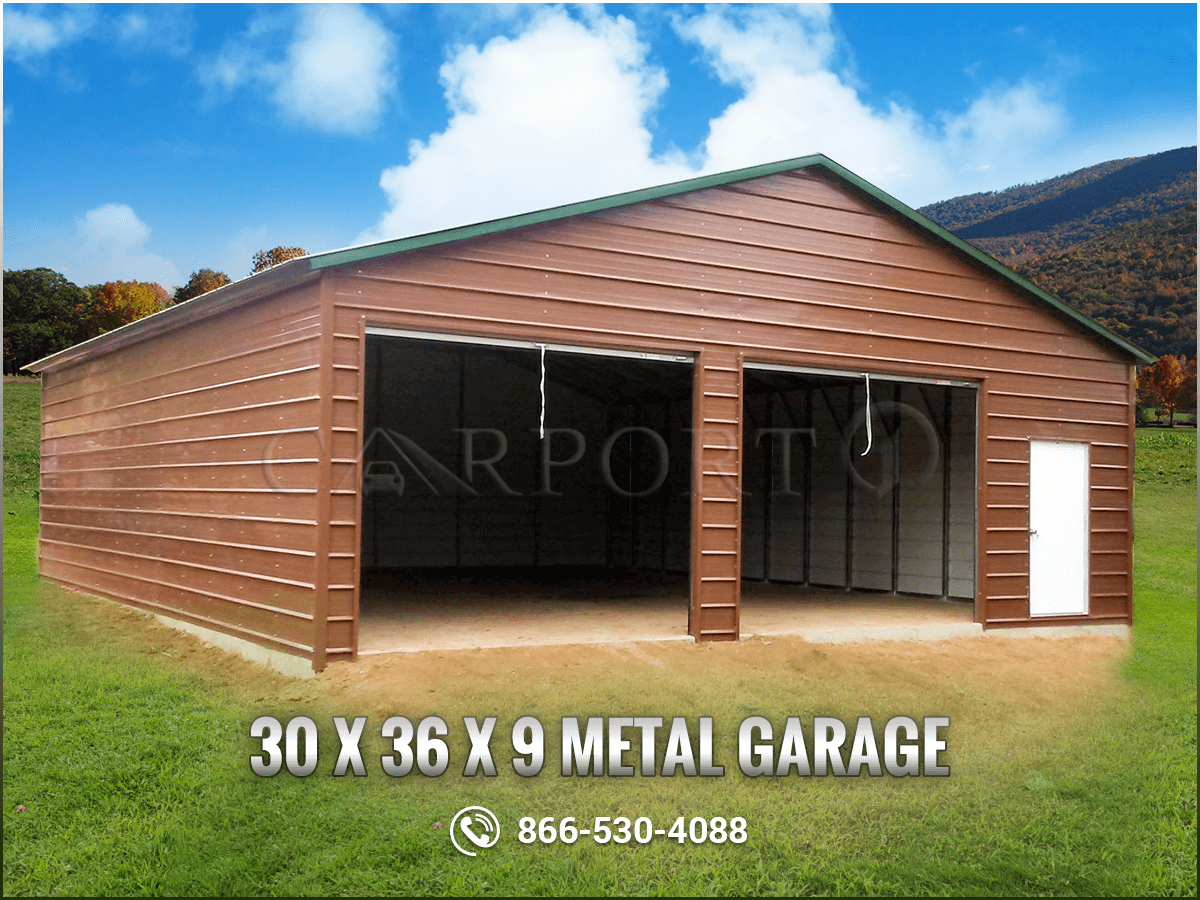 Get this 30' x 36' x 9' garage building installed and