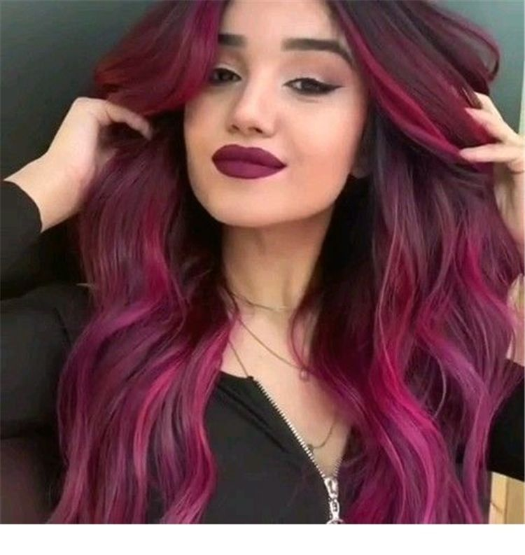 45 Best Burgundy Hair Color And Designs For Your Inspiration Page 43 Of 45 Women Fashion Lifestyle Blog Sh In 2020 Hair Color For Black Hair Hair Color Hair Styles