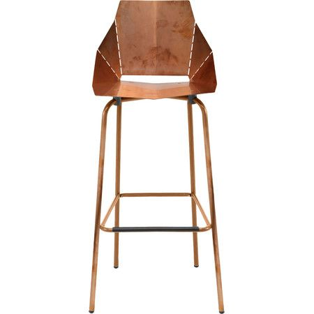 Equally at home at the breakfast table or in the game room, this modern barstool brings subtle style to any space.  Product: Bar...