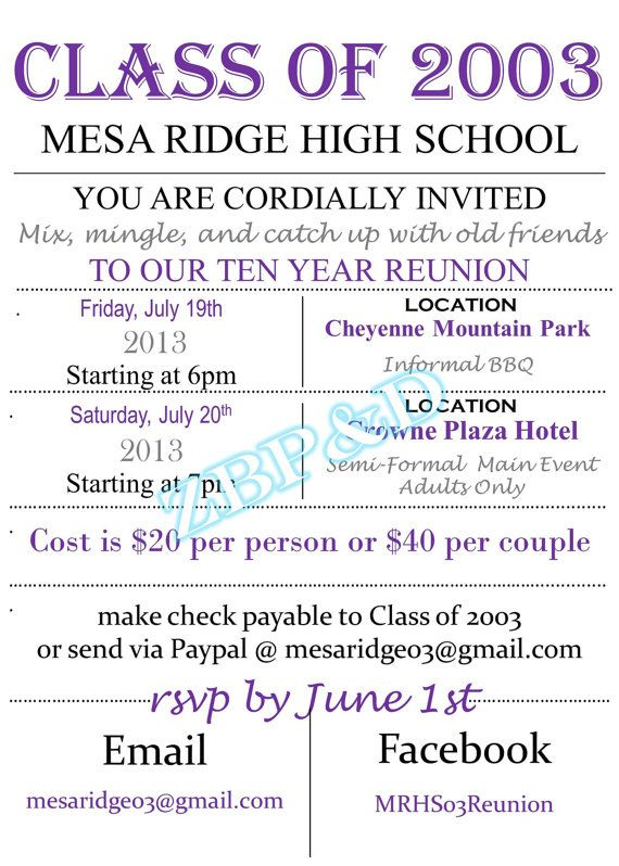 Fun Flyer\/Poster Like Class\/Family Reunion Invitation on Etsy - family reunion flyer