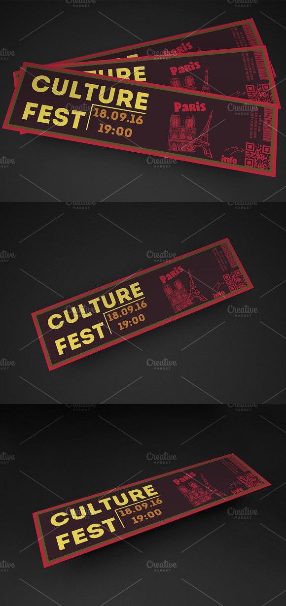 Fresh Event Ticket Pinterest Event ticket, Template and Fonts - ticket invitation template