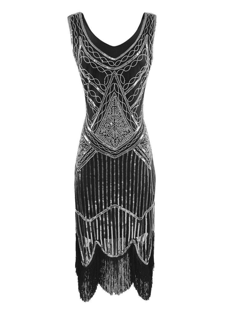 Silver s sequined flapper dress my style pinterest