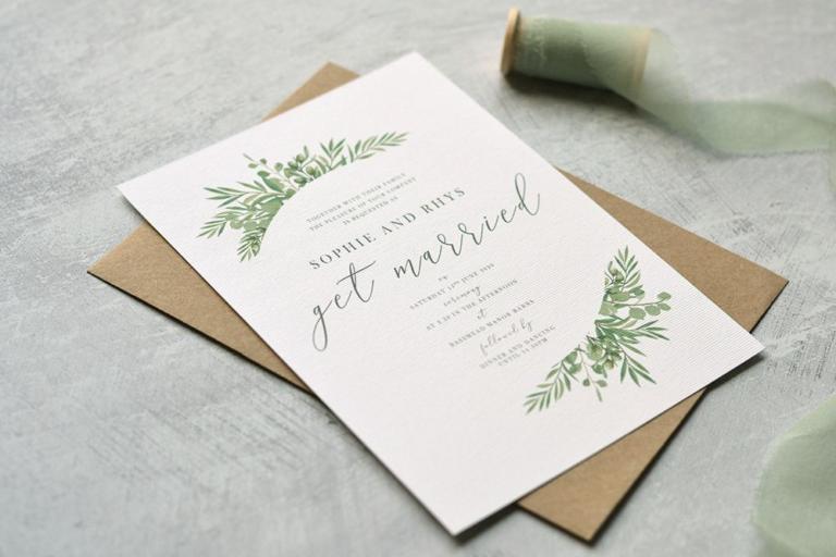 italian garden invitation suite, destination wedding ...