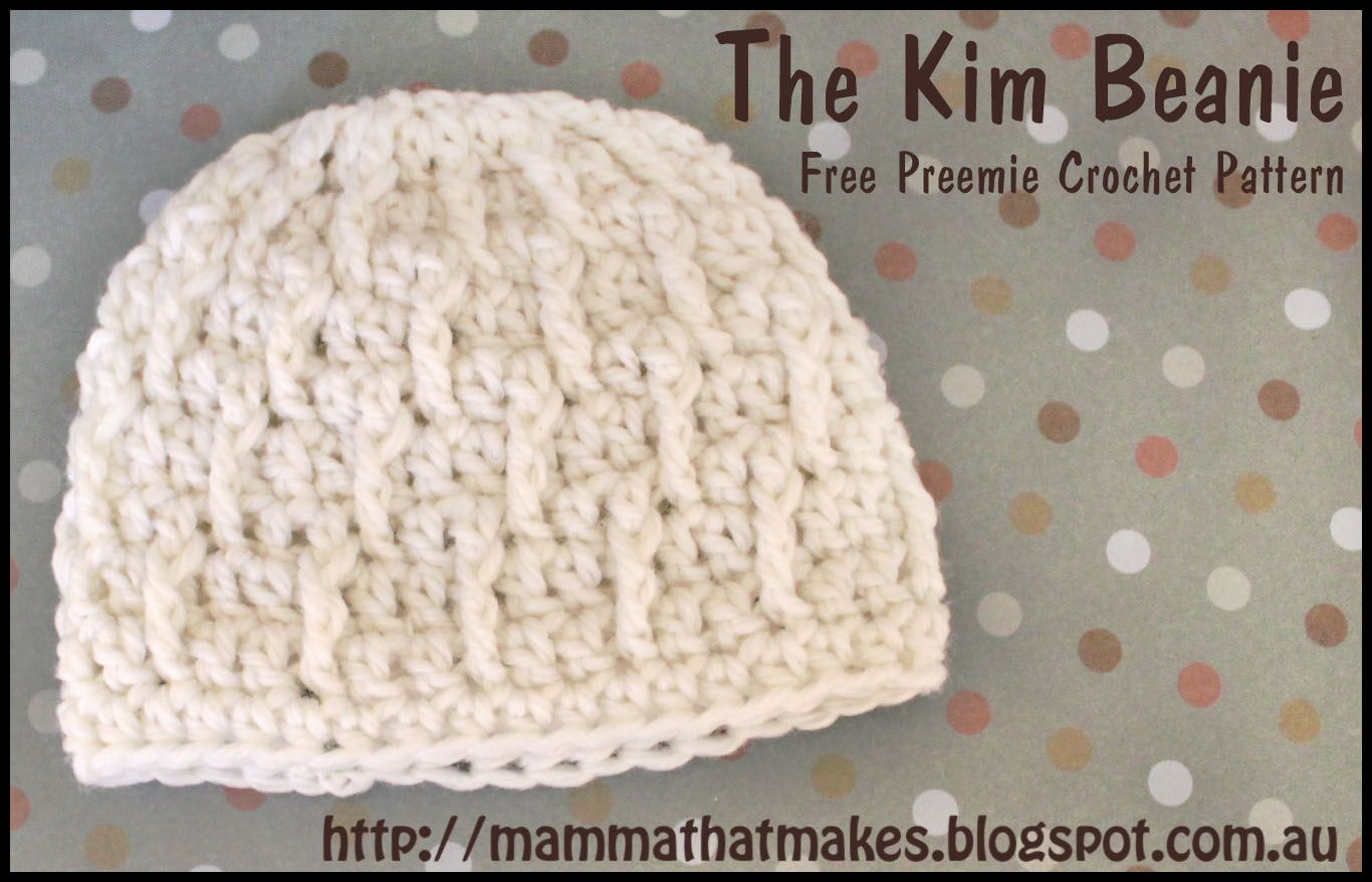 Mamma That Makes: The Kim Beanie | Preemies! | Pinterest | Gorras