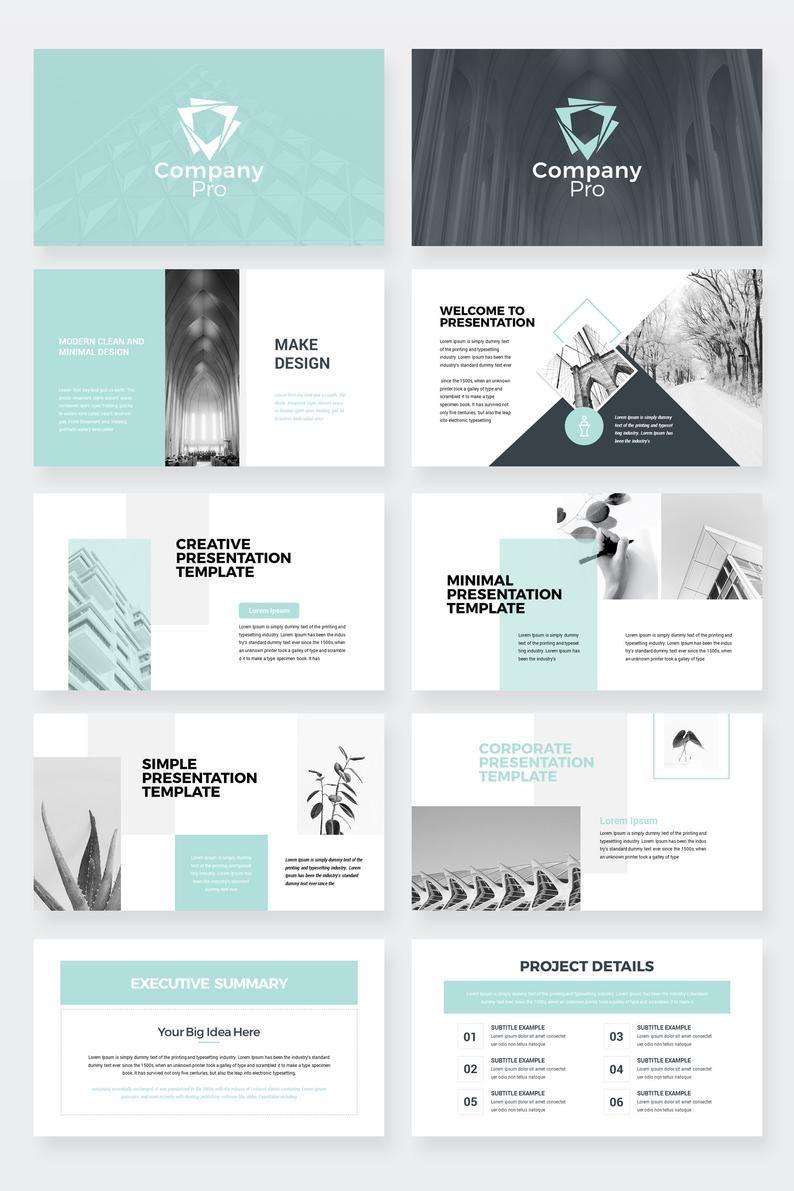 Plantilla de presentación de diapositivas de Google Company Pro Clean Business