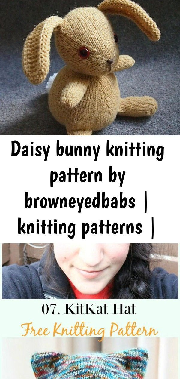 Daisy bunny knitting pattern by browneyedbabs | knitting patterns | loveknitting 2 Knitted with the yarn