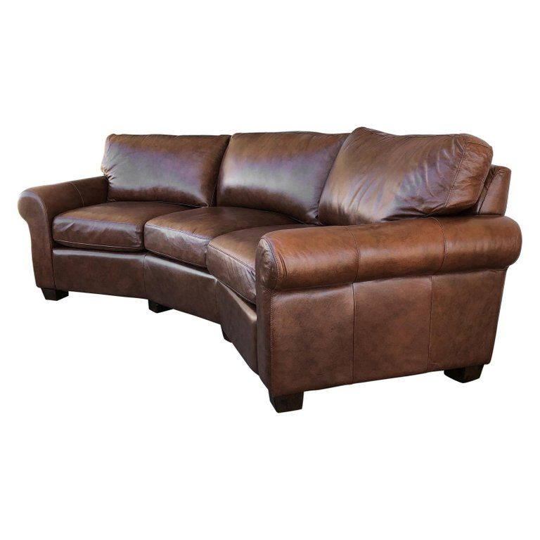 1stdibs Leather Curved Omnia Sofa Modern Leather Sofa Sofa Leather Sofa