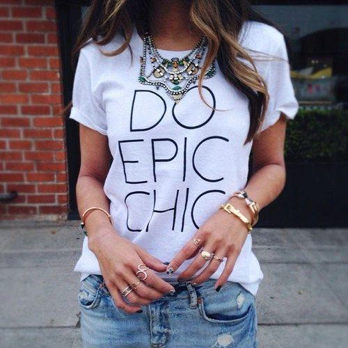 89aa697a0ca Do Epic Chic tshirt for women tshirts shirts by Stupidfashion