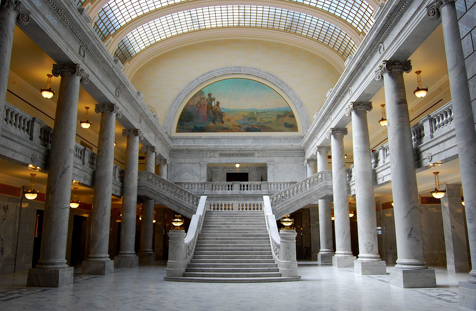 From Wikiwand The Second Floor Showing The West Atrium In 2020 State Legislature Salt Lake City Downtown Architecture