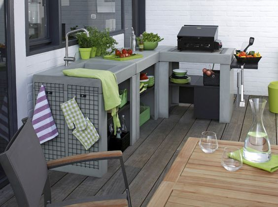 cuisine du0027exterieur Cuisine d éte Pinterest Barbecues, Pool - beton cellulaire en exterieur
