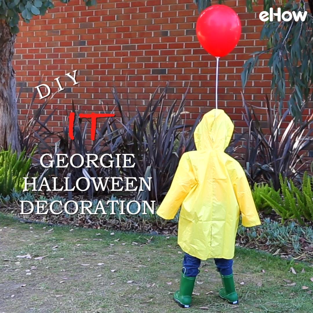 Photo of DIY 'IT' Life-Size Georgie Halloween Decoration