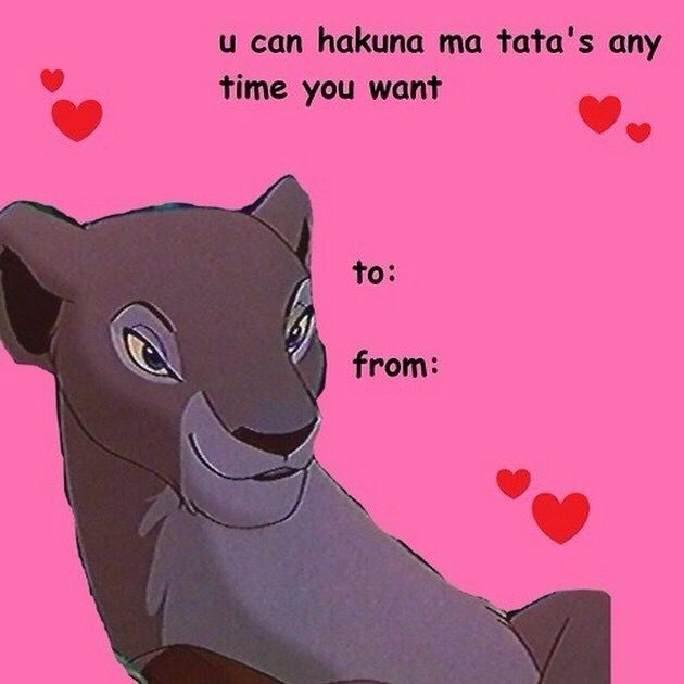 Lion King | Funny valentines cards, Funny valentine memes ...