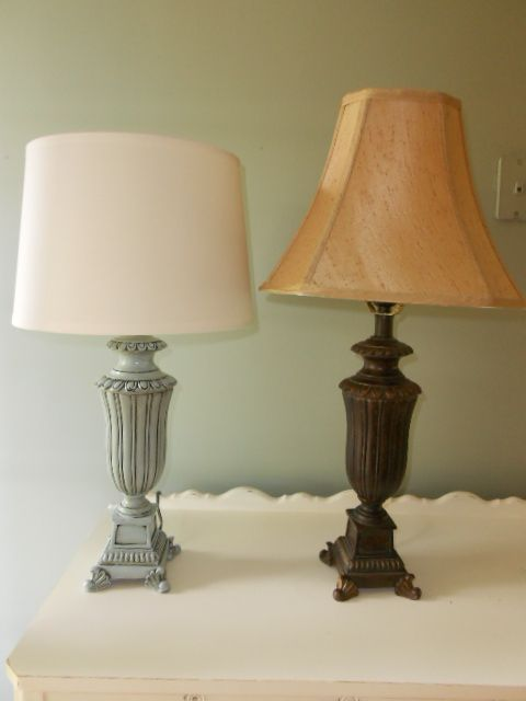 Oops How To Paint A Brass Lamp Brass Lamp Painting Lamp Shades Antique Lamp Shades