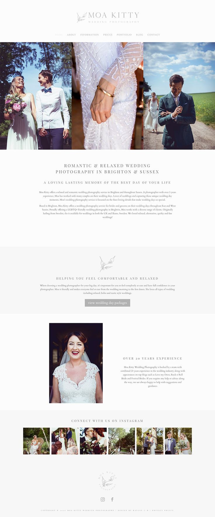 Luxury website design for wedding photography business by Hayley Comber-Berry  #wedding #weddingphotographer #weddingphotographer #logodesign