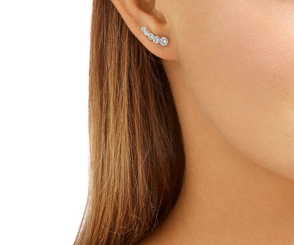 5eaf39b1a Harley Pierced Earrings, White, Rhodium Plating from #Swarovski