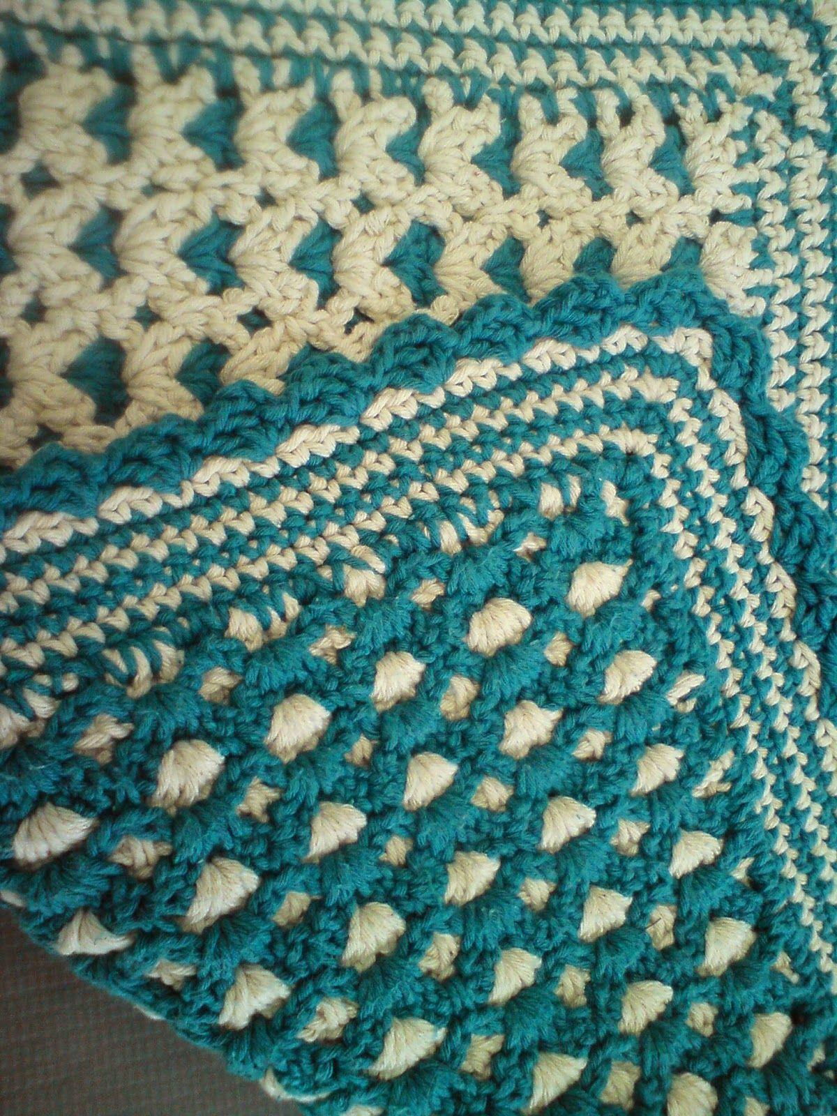 Crochetear Tapete E Passadeira De Croche Em Barbante Dupla  -> Tapete De Sala Drops
