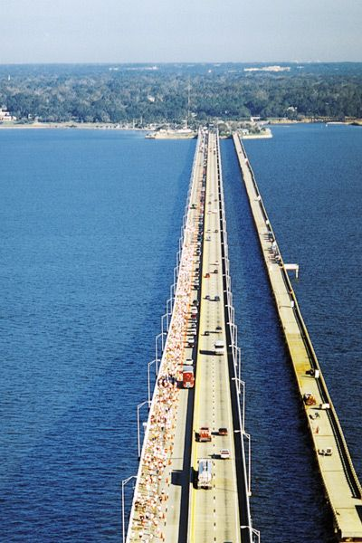 The philip dane beall sr memorial bridge also known as for Pensacola bay fishing