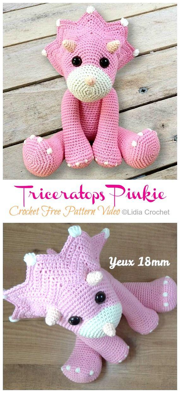 Amigurumi Triceratops Dinosaur Crochet Free Patterns - Crochet & Knitting