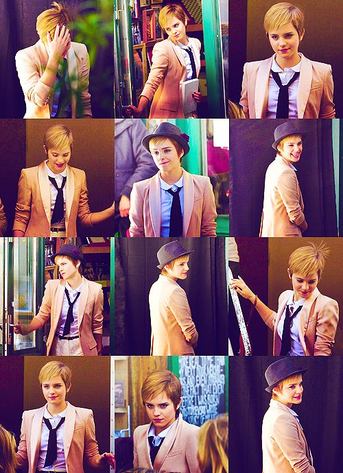 If any one woman can still look womanly wearing a pantsuit, it is Emma Watson. Plus- that pixie cut is EPIC. Definitely a fashion moment to remember, when Emma cut her lioness mane and went for a more subtle, yet stated do!